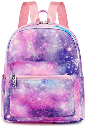 Girls Mini Backpack Purse Galaxy Small Backpack Shoulder Bag for Women Teens School Travel Galaxy Pink