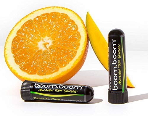 Aromatherapie Inhalator von BoomBoom Verbessert Die Atmung und Sorgt Für Ein Frisches Kühlgefühl | Hergestellt Aus Ätherischen Ölen, Menthol-Eukalyptus- und Pfefferminzöl Tropical