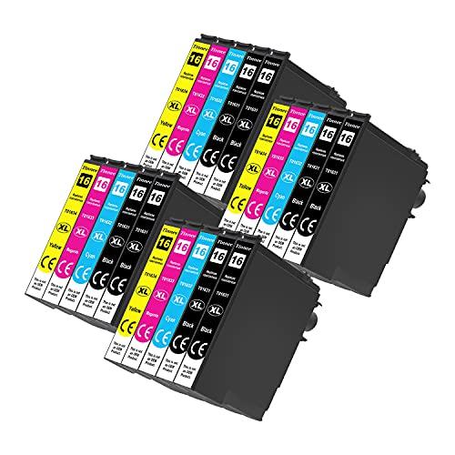 Tinnee 16XL - Cartucho de tinta compatible, sustituye a Epson WF-2010W WF-2510WF WF-2520NF WF-2530WF WF-2540WF WF-2630WF WF-2650DWF WF-2760 (negro, cian, magenta y amarillo, 20 unidades)