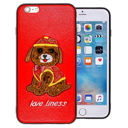 COOVY Funda para Apple iPhone 6 + Plus Ligera de silicio TPU, con Motivo de Animal de Peluche, con Ojos pequeños   diseño Diseño 02