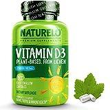 NATURELO Vitamin D - 2500 IU - Plant Based from Lichen - Natural D3 Supplement for Immune System, Bone Support, Joint Health - Vegan - Non-GMO - Gluten Free - 180 Mini Capsules