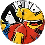 gshihuainingxianshekush Cartoon Simpsons Wanduhr i