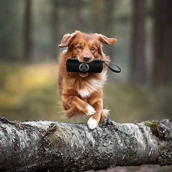 HUND IST KÖNIG Dummy à rapporter de qualité supérieure pour chien - Sac à nourriture idéal pour le dressage des chiens ou des chiots - Avec ebook inclus - Noir