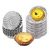 Tazas de Papel de Aluminio Desechables,Biluer 500PCS Molde de Pastel de Muffin Molde de Pastel de Huevo para Cocinar Hornear Congelar Conservar