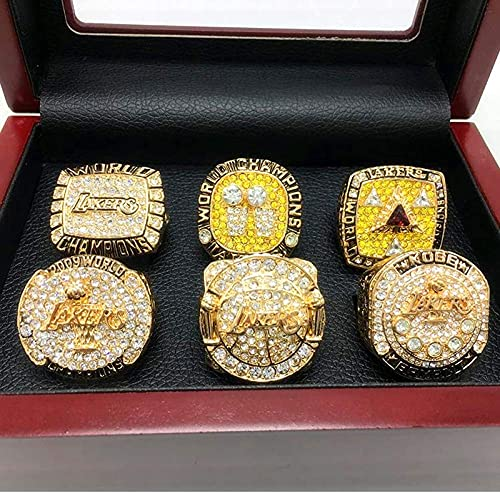 CPBY NBA Los Angeles Lakers 2000 2001 2002 2009 2010 2016 Champion Ring Anneaux Champions, Campeones MVP Champion Anneau Replica De Collection, No Box, 9, with Box - 13
