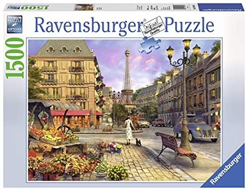 Ravensburger Paris Puzzle, Città di Parigi, Puzzle 1500 pezzi, Relax, Puzzles da Adulti, Dimensione: 80x60 cm, Stampa di alta qualità, Travel, Viaggi
