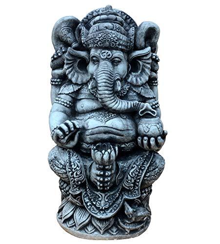 gartendekoparadies.de Massive große Ganesha - der Göttliche Statue Hinduismus Gott aus Steinguss frostfest...
