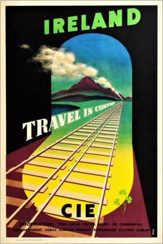 Posterlounge Acrylglasbild 20 x 30 cm: Irland (englisch) von Travel Collection - Wandbild, Acryl Glasbild, Druck auf Acryl Glas Bild