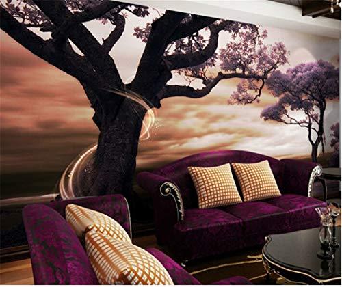 Tapeten Tapeten-Landschafts-Großes Foto-Wandtapete Des Raum-3D Für Schlafzimmer-Purpur-Wandbilder