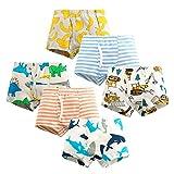 Qingzhuan 6 paquetes de calzoncillos tipo bóxer para niños, bragas de algodón, ropa interior para niños, calzoncillos de dibujos animados, pantalones suaves y cómodos de 5 a 6 años (altura 115-127 cm)