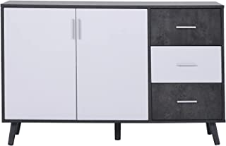 HAZYJT Buffet Commode Commode, Armoire avec 2 étagères intégrées et 3 tiroirs, Armoire de Cuisine, Armoire de Rangement de...