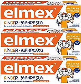 Elmex tandpasta kinderen. 50 ml (3 Stuk)