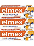 Elmex Dentifrice pour enfants, Lot de 3(3x 50ml)