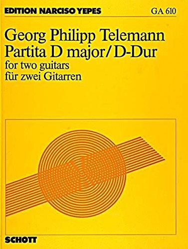 Partita D-Dur: 2 Gitarren. Partitur und Stimmen. (Gitarren-Archiv)
