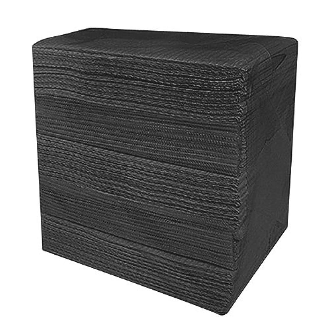 発見緩む粘性の完全防水ネイルペーパー ブラック 50枚入