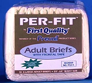 First Quality Fqpf014Ca Prevail Per-Fit Adult Brief X-Large 59