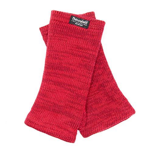 EEM Damen Strick Wollstulpe Pulswärmer MAYA-BW mit Thinsulate Thermofutter aus Polyester, aus 100% Baumwolle berry melange Onesize