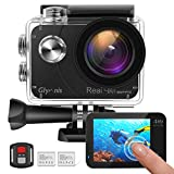 Glymnis Action Cam Echte 4K 20MP Sport Action Kamera Touchscreen