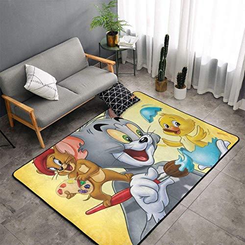 Tom et Jerry - Alfombra para niños y niñas (muy suave, 60 x 39 pulgadas)
