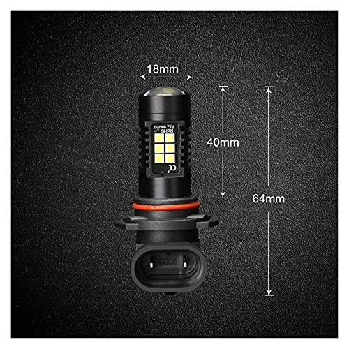 MEILIJIE XIAOXU MIN 2 unids 1200lm H11 H8 LED Luces de automóvil LED Bulbos LED 9005 HB3 9006 HB4 Luces de Funcionamiento Diurna Blanca DRL Fog Light 6000K 12V Lámpara de conducción