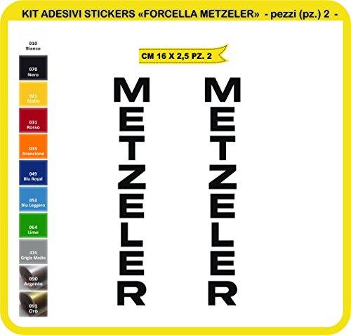 Pimastickerslab Aufkleber stickers METZELER moto decal bike-Motorrad- Cod. 0728 (070 NERO)