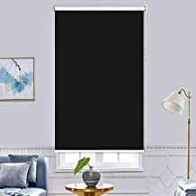 Roller Shades Snap Blackout Curtains - Insulated Room Darkening Curtains 100% Blackout Curtains For Living Room Office And...