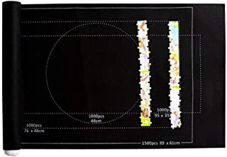 ROOYA BABY Direct-JP パズル パズルマット 収納マット パズルパッド ジグソーパズル収納 組み立てマットロールフェルトマット ジグソーパズル プレイパッド パズルギフト 3000ピース収納マット大容量オーガナイザー 39*5...