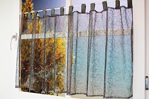 Kamaca Scheibengardine Bistrogardine Magic halbtransparent und lichtdurchlässig (hellgrau, 60x150 cm)
