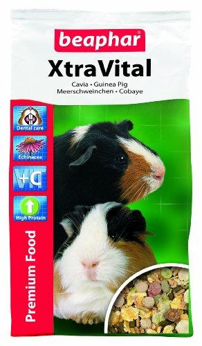 XtraVital Meerschweinchen Futter | Reich an Vitamin C | Mit zahnpflegenden Eigenschaften | Geringer Fettgehalt | Mit Echinacea & Alfalfa | 1 kg