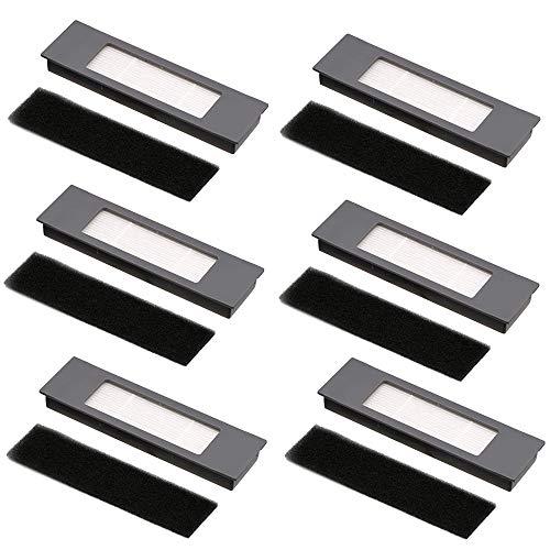 Juego de 6 filtros y esponjas para Ecovacs Deebot Ozmo 920 950