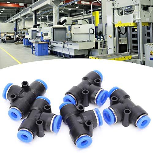 Empuje para conectar racor de tubo, conector neumático de 3 vías fácil de instalar 50 piezas para tubo de PU para juntas de manguera