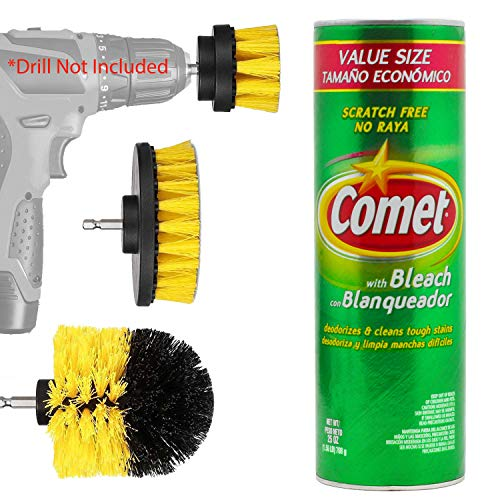 (16% OFF) 25oz Comet W/ Drill Bit Brush Power Scrubber Set $10.59 Deal