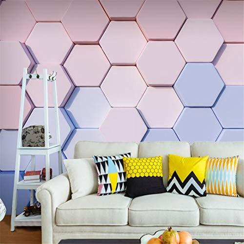 3D niet-geweven behang 3D moderne minimalistische geometrisch patroon behang schoonheid nagel trouwjurk winkel muurschildering Macaron behang 430cm*300cm