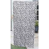 The Royal Standard Microfiber Beach Towel Leopard Black