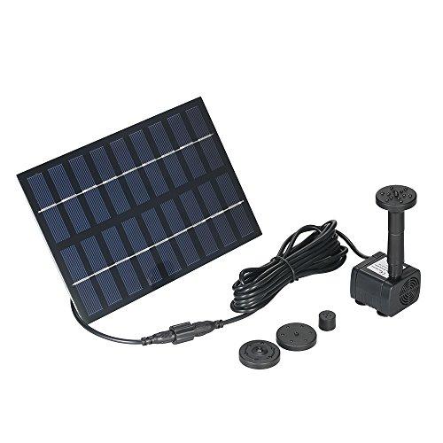 Decdeal brunnen pumpe springbrunnenpumpe teichpumpe solar klein bürstenlose 165L / H 9V 1.8W 60cm 150cm