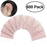 600 Counts Disposable Ear Press Seeds Acupuncture Vaccaria Plaster Bean Massagee Multi-Condition Ear Seed Acupressure Kit