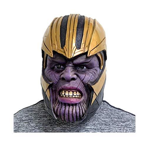 Halloween Hero Latex Masker, Thanos PVC LED Handschoen, Cosplay Props voor Volwassenen Tiener Mask 1