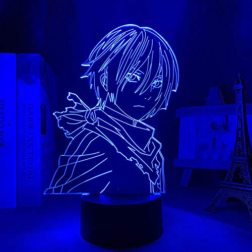 3D NIGHT LIGHT Anime Noragami Yato Figure Led Night Light for Bedroom Decor Light Brithday Gift Manga Noragami 3d Table Lamp Acrylic 7 Color Touch HOICHAN