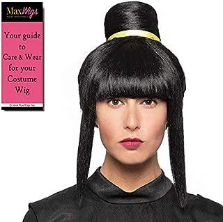 Chi Chi Dragon Color Black - Enigma Wigs Fire Princess Mountain Wife Ball Cartoon Anime Japanese Bun Bundle MaxWigs Costume Wig Care Guide