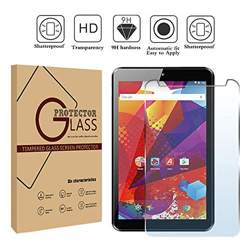 FINDING CASE Argos Alba 7 Inch Android Tablet - Premium Tempered Glass Screen Protector Film Cover 9H Hardness Anti-Scratch Bubble-Free Ultra Clear