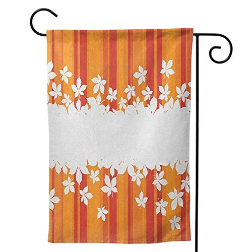 Garden Flags Double-Sided Polyester Vertical Outdoor Yard flag Welcome for All Seasons and Orange and Pink Ombre Inspired Background Circles and Banners Purple Pink Orange Home Decorative 12x18