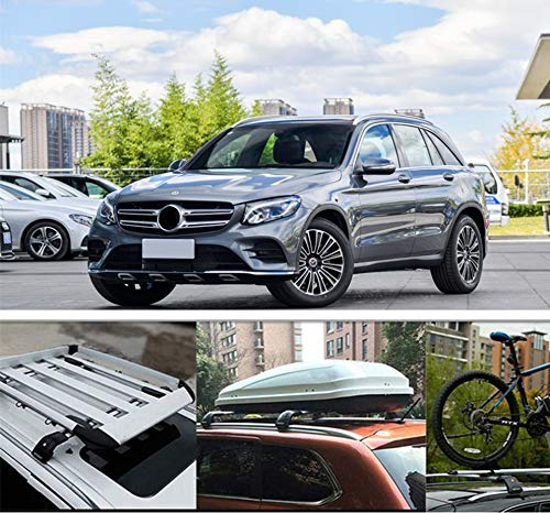 MotorFansClub Luggage Rack Roof Rack Rail Aluminum Top Cross Bar Crossbar Baggage Fit for Compatible with Mercedes Benz GLC X253 W253 GLC43 GLC200 GLC250 GLC300 GLC450 2016 2017 2018(2 PCS)