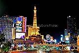 ballys Hotel fotografía un 18'x12' fotográfico impresión DE ballys y Hotel Paris Eiffel Tower las Vegas América paisaje foto color imagen Fine Art Print fotografía por Andy Evans fotos
