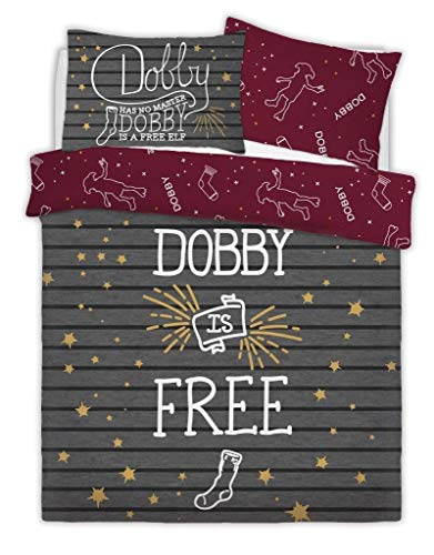 CT Friends Slogan Harry Potter Looney Tunes Disney Characters Luxurious Kids/Adults Duvet Cover Sets Reversible Bedding Sets (Harry Potter Dobby The Elf, Double)