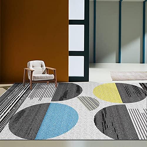 Alfombra De Contraste Geométrico De Estilo Moderno Antideslizante Impermeable Alfombrilla Lavable Adecuada para Dormitorio Sala De Estar Pasillo