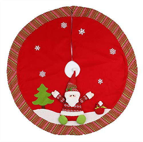 ChenCheng Regalos de decoración de Navidad, Old Man Snowman Tree Skirt, Delantal Decoraciones de Navidad, Christmas Tree Dressing Props Suministros de Vacaciones (Color : A)