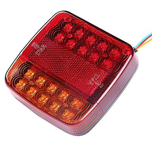 AOHEWEI LED Anhänger Rücklicht 12V Bremsleuchte für Lkw Blinklicht Hinten Beleuchtung Wasserdicht Kontrollleuchte für Anhänger LKW Wohnwagen Van oder Traktor (20 led-chips)