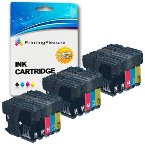 15 Compatibles LC1100 LC980 Cartuchos de tinta para Brother DCP-145C 165C 195C 197C 385C 585CW 6690CW MFC-250C 290C 490CW 5890CN 5895CW 6490CW 990CW J615W - Negro/Cian/Magenta/Amarillo, Alta Capacidad