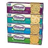 Milton's Gourmet Crackers. Multi-Grain, Garlic & Herb, Crispy Sea Salt and Everything Bundle Non-GMO Baked Crackers (4 Flavor Variety Bundle, 8.3 Ounce).