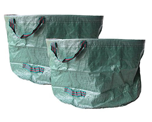 Amazing Deal Walkingpround 2 Pack Pop-Up Garden Waste Bags 63 Gallons Lawn & Leaf Bags Container Spr...